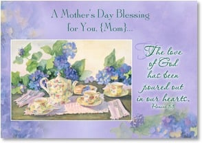 Mother's Day Card - May the Lord fill your heart; Romans 5:5 | Judy Buswell | 2002577-P | Leanin' Tree