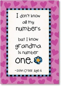 Mother's Day Card - The Best Grandma; James 1:17 | Kate Harper | 2002618-P | Leanin' Tree