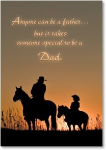 Father's Day Card - You're as special as they come... | Robert Dawson | 2002620-P | Leanin' Tree
