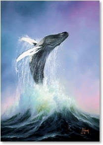 Father's Day Card - Have a whale of a great day! | Anthony Casay | 2002624-P | Leanin' Tree
