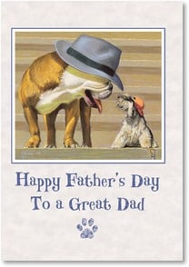 Father's Day Card - Doggone it... you're the best! | Bryan Moon | 2002625-P | Leanin' Tree