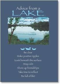 Birthday Card - Advice from a Lake - Immerse in pleasure | Your True Nature® | 2002644-P | Leanin' Tree