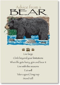 Birthday Card - Advice from a Bear - Honey of a Day | Your True Nature® | 2002646-P | Leanin' Tree