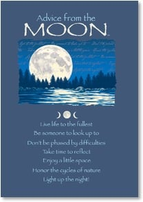Birthday Card - Advice from the Moon/Your time to shine | Your True Nature® | 2002647-P | Leanin' Tree