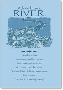 Motivation & Inspiration Card - Advice from a River - Make a Splash! | Your True Nature® | 2002654-P | Leanin' Tree