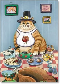 Thanksgiving Card - Until New Year's, forget the diet! | Gary Patterson | 2002662-P | Leanin' Tree