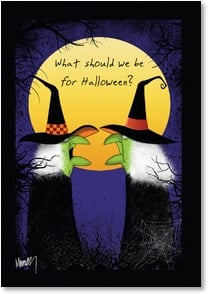 Halloween Card - What should we be for Halloween? | Leslie Moak Murray | 2002664-P | Leanin' Tree