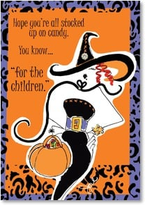 Halloween Card -  Oh, the sacrifices we make... | Working Girls Design, Inc. | 2002665-P | Leanin' Tree