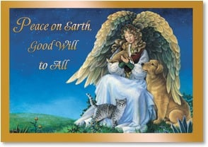 Christmas Card - Peace on Earth, Good Will to All | Elaine Maier | 2002706-P | Leanin' Tree