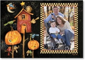 Halloween Card - Happy Halloween from our home to yours! | Debi Hron | 2002711-P | Leanin' Tree