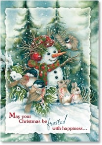 Christmas Card - ...and warmed by special friendships | Jody Bergsma | 2002725-P | Leanin' Tree