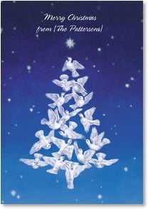 Christmas Card - Wishing you Peace and Love | Lesley Hammett | 2002727-P | Leanin' Tree