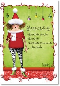 Holiday Card - Merry Chocolate! | Leslie Moak Murray | 2002730-P | Leanin' Tree