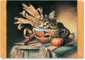 Thanksgiving Card - Ancient Bounty & Beauty; Acoma Pot | Lisa Danielle | 2002744-P | Leanin' Tree