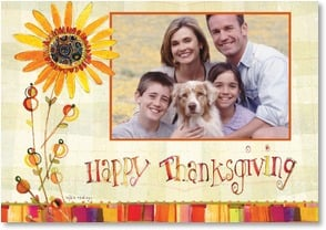 Thanksgiving Card - Bright with Joy and Warmed by Gratitude! | Robbin Rawlings | 2002751-P | Leanin' Tree