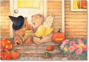Halloween Card - Happy 'Trick or Treat' to Someone Sweet! | Judith Cheng | 2002753-P | Leanin' Tree