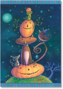 Halloween Card - Hope every minute has smiles in it! | Viv Eisner | 2002759-P | Leanin' Tree