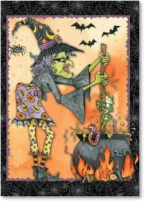 Halloween Card - Forget your toils and troubles! | Lakeside Design | 2002760-P | Leanin' Tree