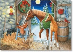 Christmas Card - Never too cold for friendship | Kathy Goff | 2002768-P | Leanin' Tree