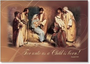 Christmas Card - Tender story of Christmas; Isaiah 9:6 | Del Parson | 2002771-P | Leanin' Tree