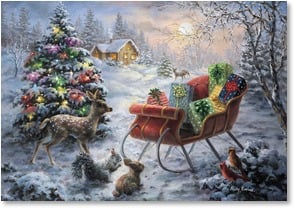 Christmas Card - May the holidays warm your heart! | Nicky Boehme | 2002772-P | Leanin' Tree
