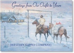 Christmas Card - Business - It's time to greet friends! | Oris Dahlen (1918 - 2003) | 2002775-P | Leanin' Tree