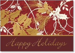 Holiday Card - We wish you all the best in the New Year | Gail Flores | 2002797-P | Leanin' Tree