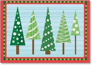 Holiday Card - Happy Holidays - Christmas Trees | Denise Bosler | 2002810-P | Leanin' Tree