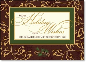 Holiday Card - Business {Name} - To one who made our progress possible... | LT Studio | 2002816-P | Leanin' Tree