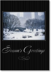 Holiday Card - A Wonderful Holiday and a Happy New Year | Masterfile Corporation | 2002831-P | Leanin' Tree