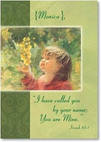 Birthday Card - Strong and full of faith; Isaiah 43:1 | Kathy Fincher | 2002844-P | Leanin' Tree