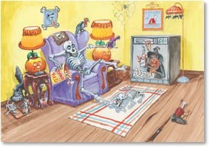 Halloween Card - Have a totally bone-chillin' Halloween! | Boots Reynolds | 2002851-P | Leanin' Tree