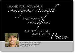 Armed Forces Day Card - Blessed are the peacemakers; Matthew 5:9 | LT Studio | 2002856-P | Leanin' Tree