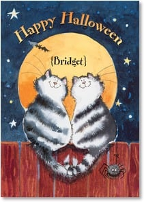 Halloween Card {Name} - I'm so glad you crossed my path!  | Margaret Sherry | 2002866-P | Leanin' Tree