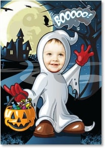 Halloween Card - Trick or treat, smell my feet! | Brant Nicholason | 2002872-P | Leanin' Tree