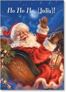 Christmas Card - May Santa bring you all the Christmas joy you can hold! | Dona Gelsinger | 2002882-P | Leanin' Tree