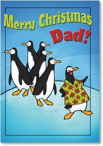 Christmas Card - You're one in a million, Dad! | Cow Pie Studios | 2002886-P | Leanin' Tree