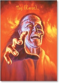 Halloween Card - Hope your Halloween is to die for! | Jim Warren | 2002899-P | Leanin' Tree