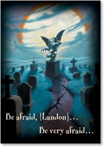 Halloween Card {Name} - Enjoy a good fright! | Jim Warren | 2002901-P | Leanin' Tree