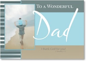 Father's Day Card - I thank God for you!; 2 Timothy 1:3 | Fotosearch | 2002904-P | Leanin' Tree