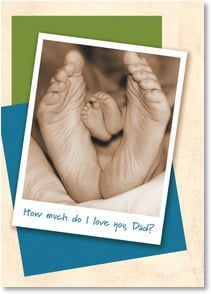 Father's Day Card - I love you down to the tips of my toes, dad!; 1 John 4:19 | Karen Frasco | 2002906-P | Leanin' Tree