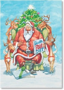 Christmas Card - Let's indulge our taste for cheer! | Boots Reynolds | 2002909-P | Leanin' Tree