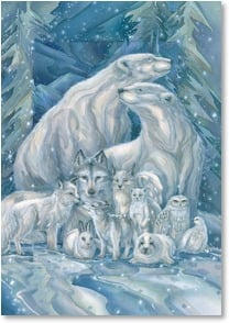 Holiday Card - May all World's Creatures Unite in Love | Jody Bergsma | 2002914-P | Leanin' Tree