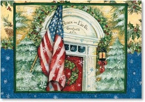 Christmas Card - Giving Thanks for our Freedoms | Susan Winget | 2002921-P | Leanin' Tree