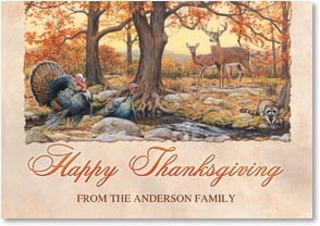 Thanksgiving Card - A Day of Happiness, Contentment & Peace | Joe Hautman | 2002926-P | Leanin' Tree