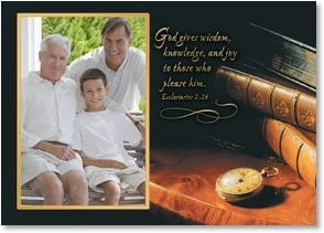 Father's Day Card - You're a wonderful man of God!; Ecclesiastes 2:26 | Getty Images | 2002936-P | Leanin' Tree