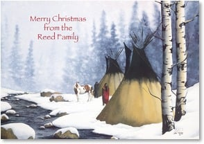 Christmas Card - The Peaceful Christmas Spirit | Carla Romero | 2002949-P | Leanin' Tree