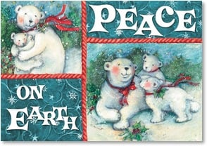 Holiday Card - Peace on Earth & Joy to You | Susan Winget | 2002957-P | Leanin' Tree