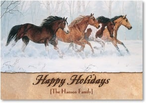 Holiday Card {Name} - May the Spirit of the Season Run Free | Chris Cummings | 2002962-P | Leanin' Tree
