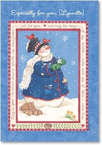 Christmas Card - So happy to have you in my life... | Sandi Gore Evans | 2002983-P | Leanin' Tree